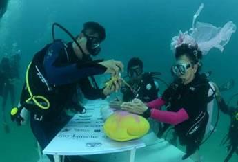 bodas submarinas en Trang