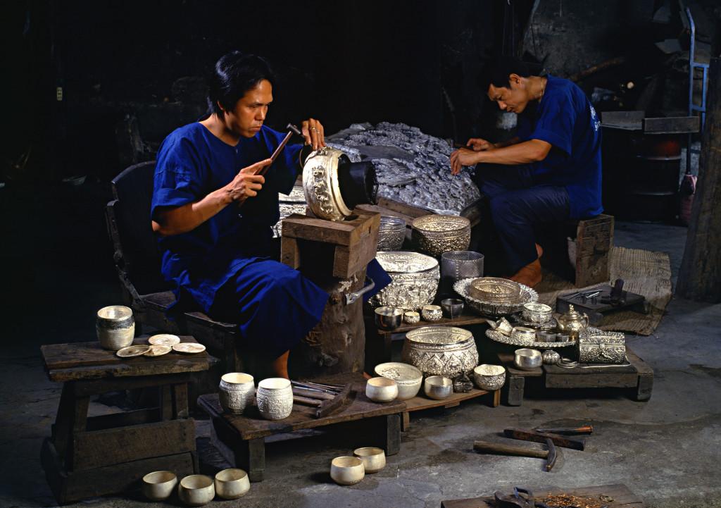 Foto: Turismo de Tailandia-Artesanos de la plata