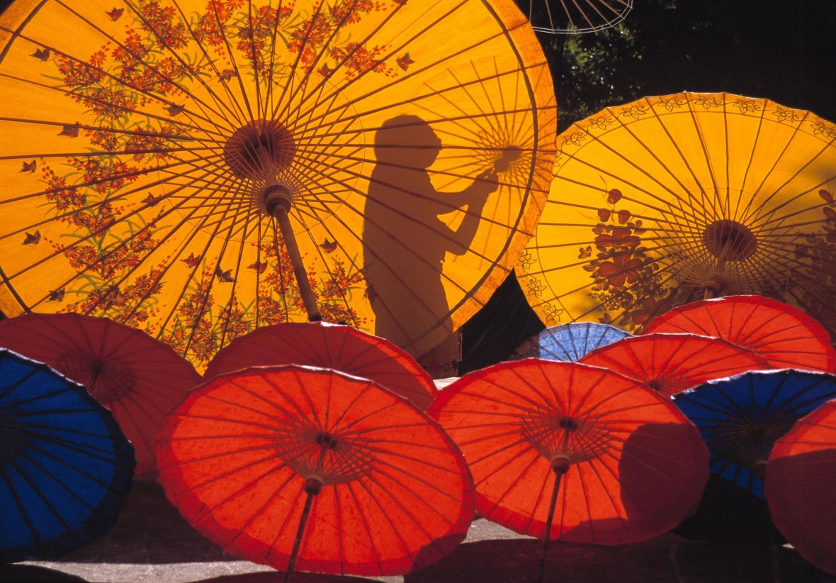 Foto: Turismo de Tailandia- Sombrillas de Bo Sang