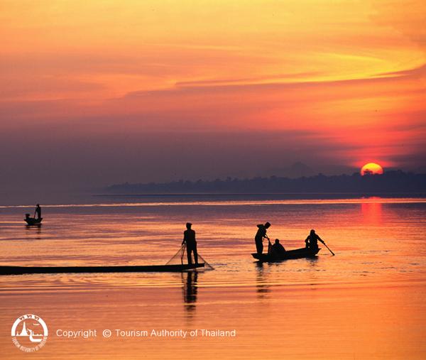 Foto: TAT / Río Mekong al atardecer