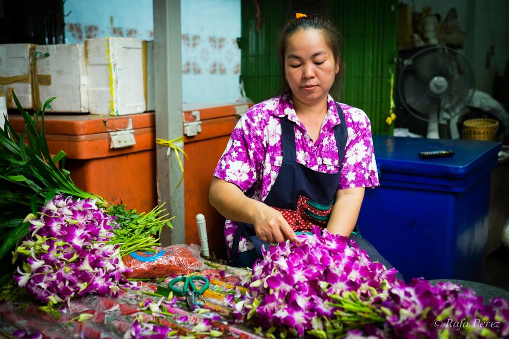 Foto: Rafa Pérez/ Mercado de las flores de Bangkok