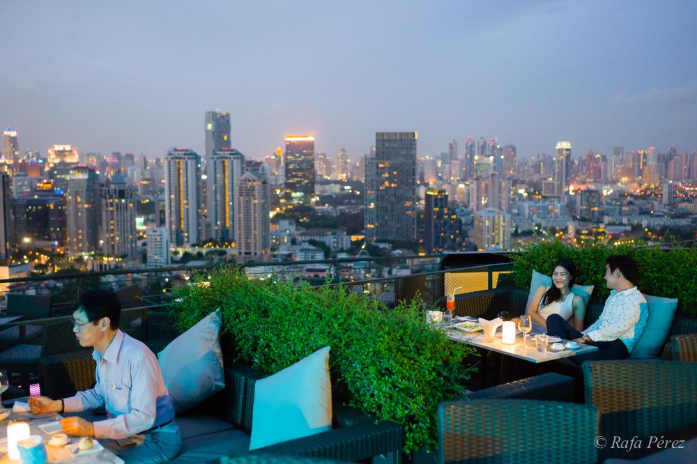 Foto: Rafa Pérez/ Roof top en Bangkok