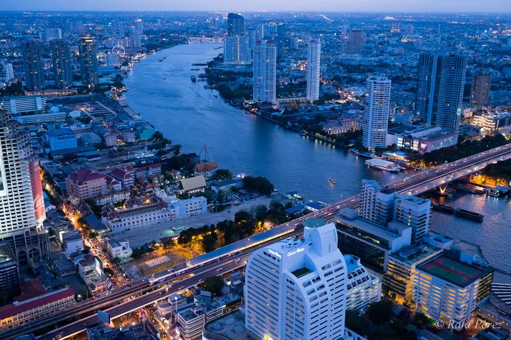 Foto: rafa Pérez/ Vista del río Chao Phraya al atardecer