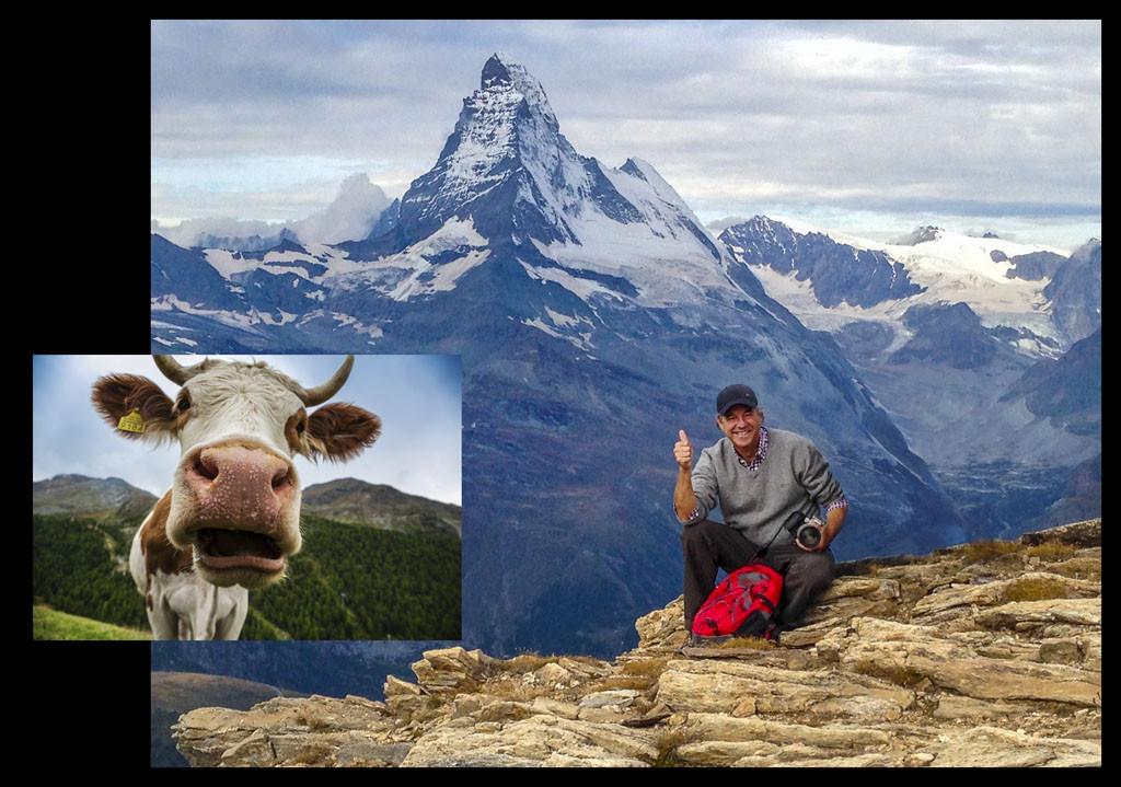 Gonzalo bajo el monte Cervino el año pasado, en Zermatt.