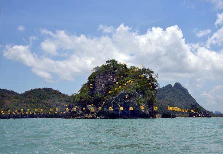 Isla sagrada de Kho Nui, en las aguas de Nakhon Si Thammarat.
