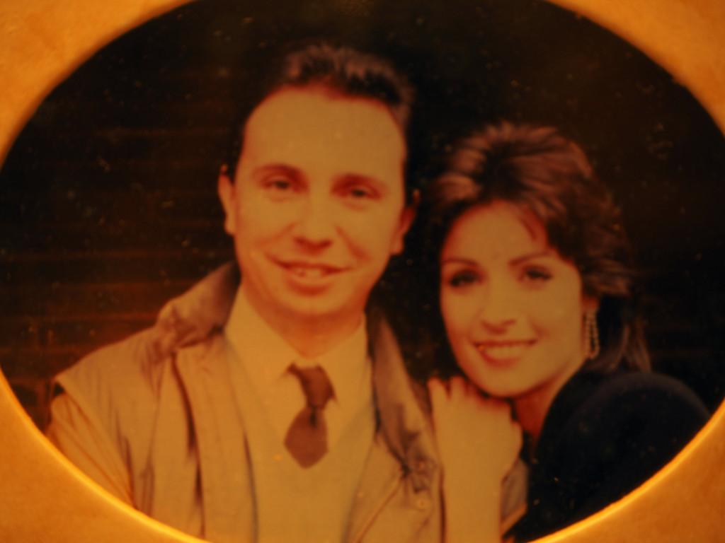 Con Amparo Muñoz