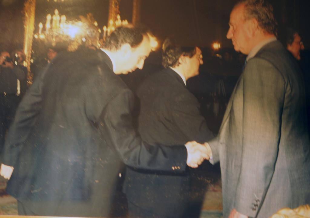 Con el Rey Juan Carlos
