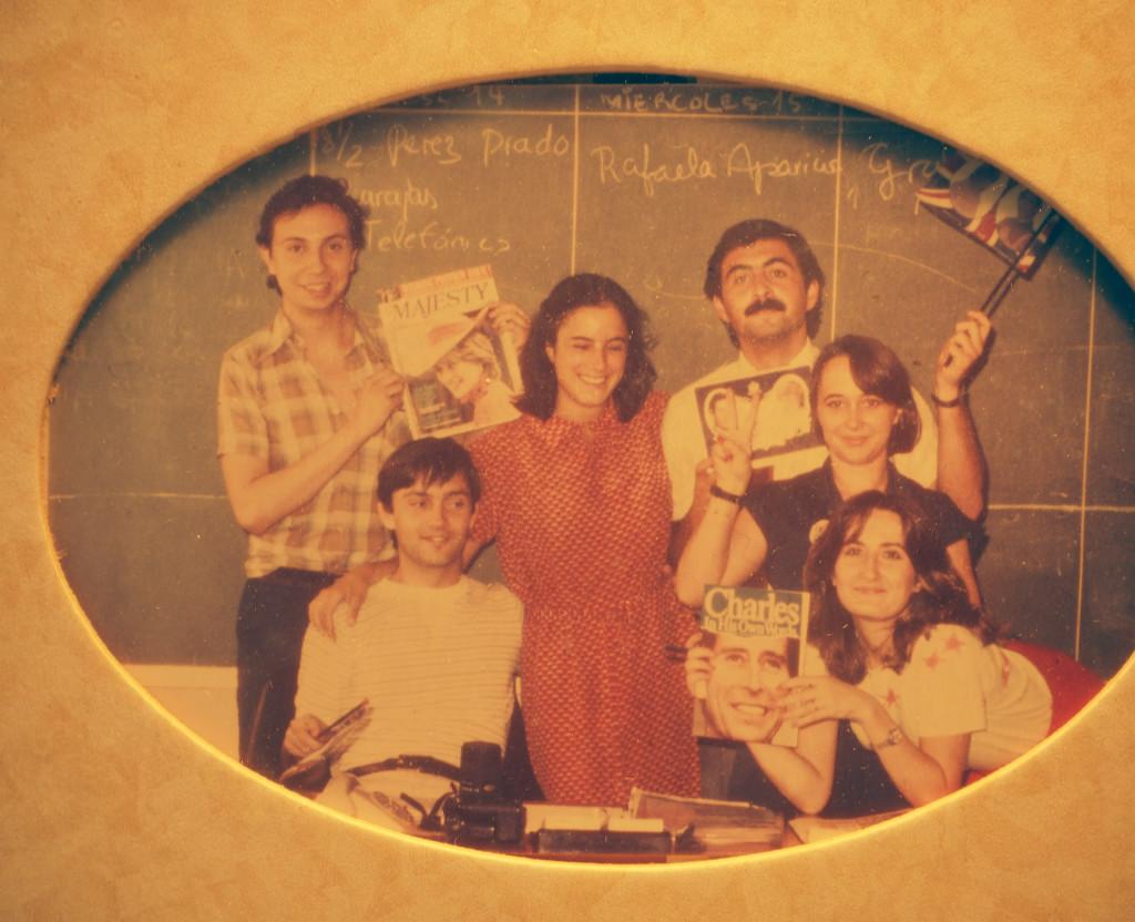 En Europa Press 1981 con Antonio Herrero y Nieves Herrero