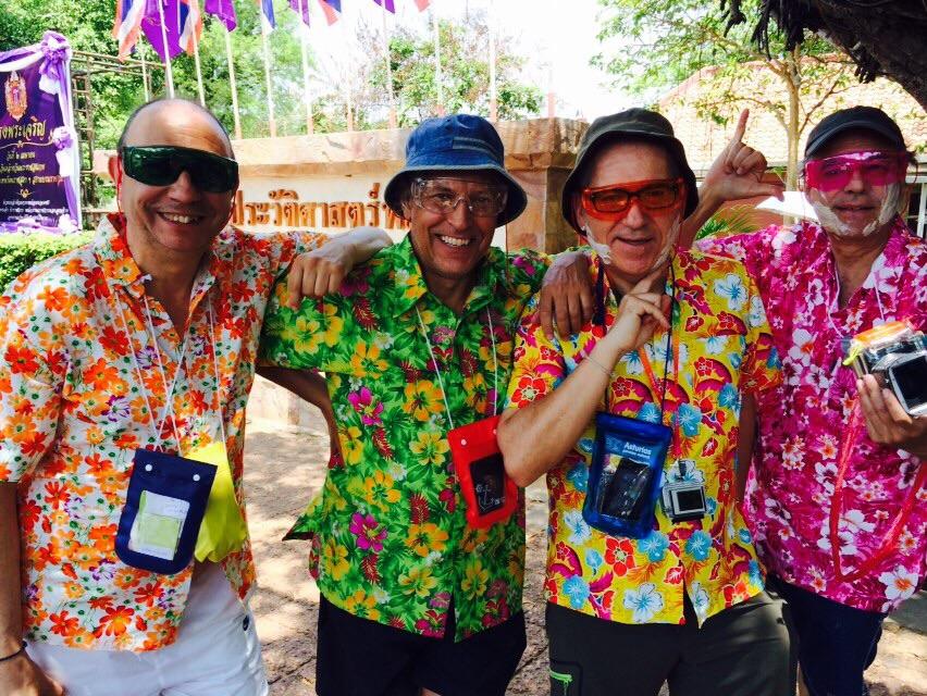 En Songkran con Gonzalo Azumendi, Ángel M. Bermejo y Alfredo Merino