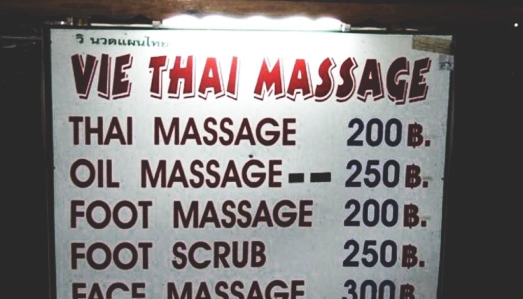 Turismo de Tailandia - Cartel de precios