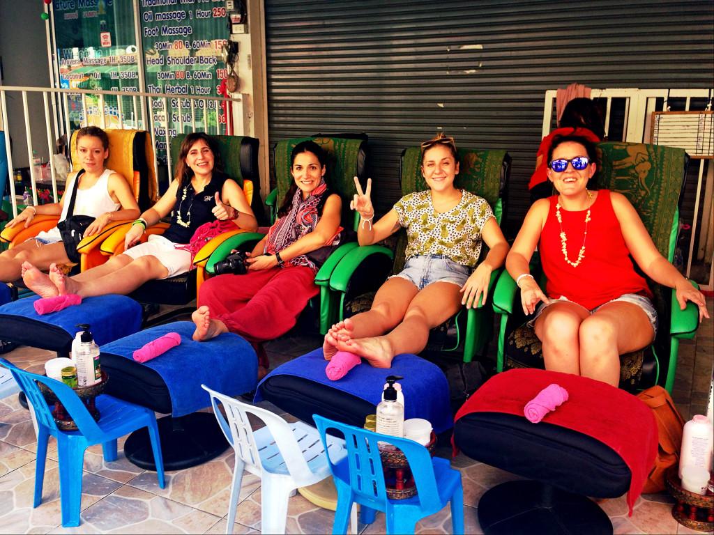 Turismo de Tailandia - Masaje de pies en Bangkok