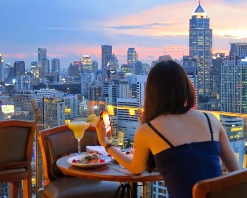 Terraza del Above Eleven en Bangkok