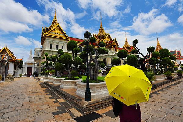TAILANDIA. BANGKOK. PALACIO REAL O GRAND PALACE.