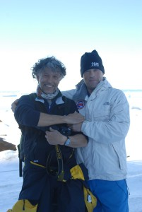 Con el explorador Robert Swan en la Antártida