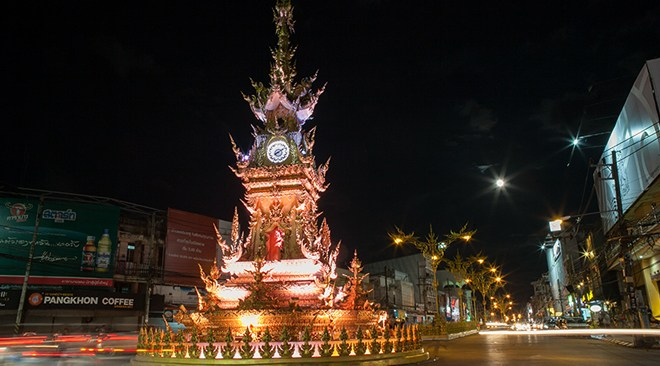 Foto: Chiang Rai Clock Tower y  the Saturday Night Market-TAT