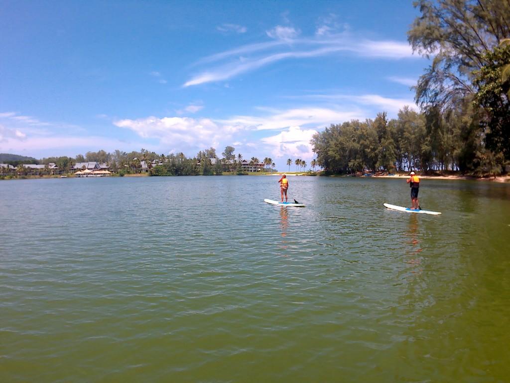 Paddle en la laguna