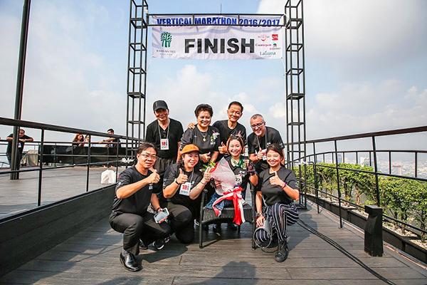 Maratón Vertical con la Cruz Roja Tailandesa