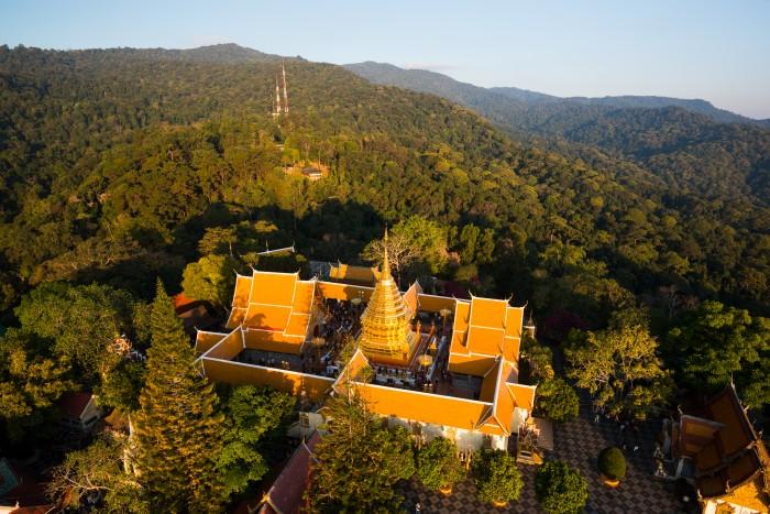 Turismo Tailandia_Aerial Photograph at Phrathat Doi Suthep Temple, Chiang Mai
