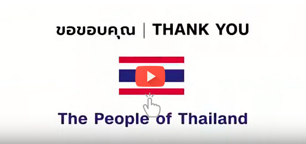 Thank You from the people of Thailand
