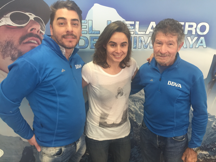 Con Jordi Roca (izq.) y Carlos Soria (dcha.)