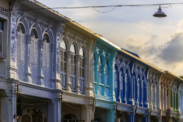 Turismo de Tailandia_ Sino-Portuguese building, the old buliding in Phuket Old Town, Phuket