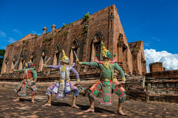 Turismo de Tailandia_Ayutthaya-Wat Kudi Dao-Khon (โขน) 180535DK_