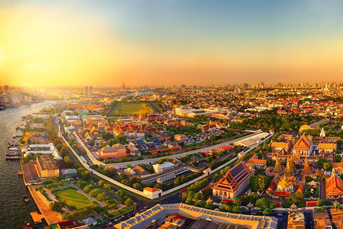 Turismo de Tailandia_Aerial Photograph at Phra Nakhon District, Bangkok