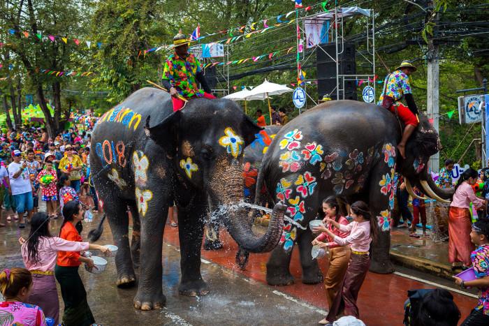Turismo de Tailandia_Songkran Festival, Phra Nakhon Si Ayutthaya