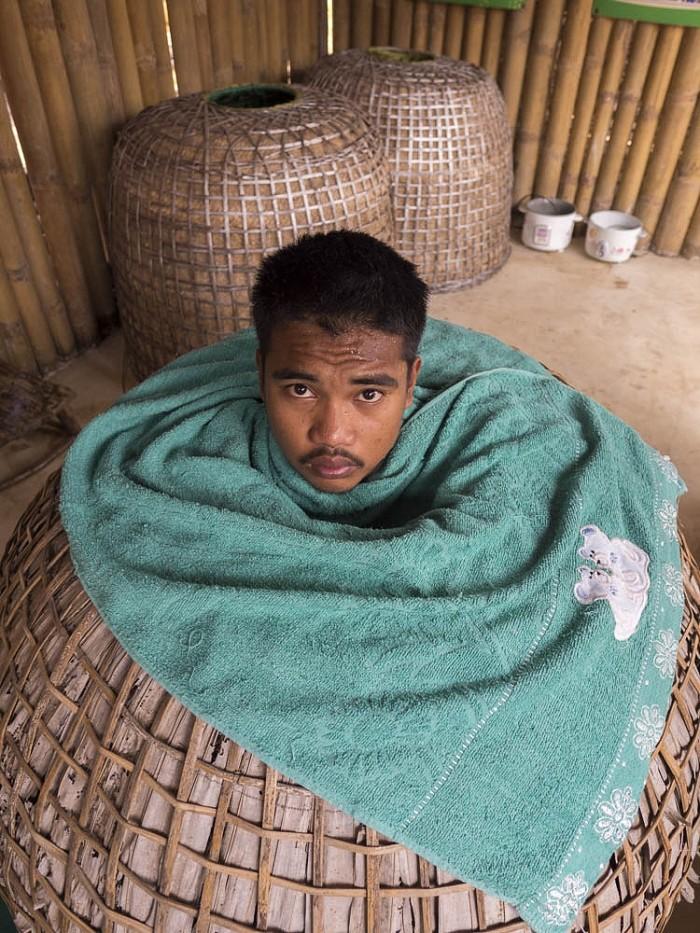 Tailandia, saunas con vapor de diferentes tipos de hierba