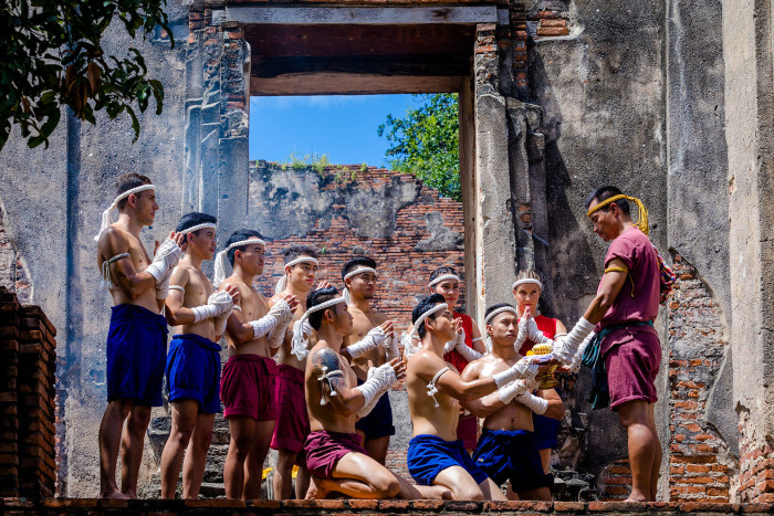 Turismo de Tailandia_Ayutthaya-Wat Borom Phuttharam-Muay Thai Khard Chuek__