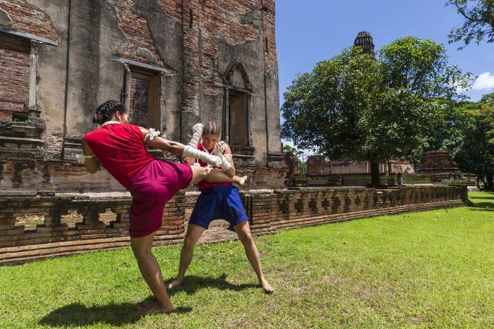 Turismo de Tailandia_Ayutthaya-Wat Borom Phuttharam-Muay Thai Khard Chuek___