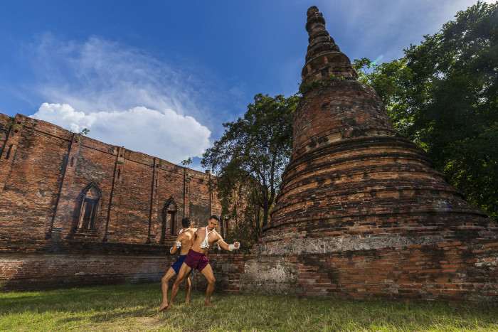 Turismo de Tailandia_Ayutthaya-Wat Maheyong-Muay Thai Khard Chuek___