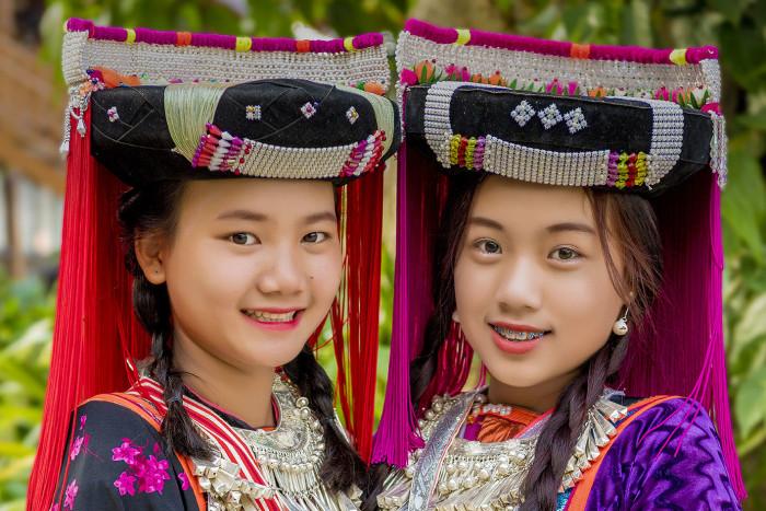 Turismo de Tailandia_Hmong Children, Mae Hong Son