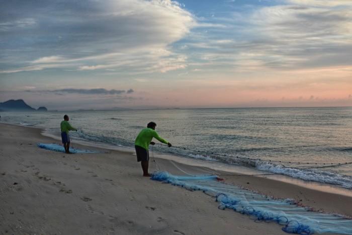 Turismo de Tailandia - Aava pescadores playa
