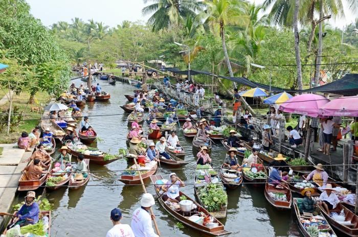 Turismo de Tailandia - Tha Kha Floating Market