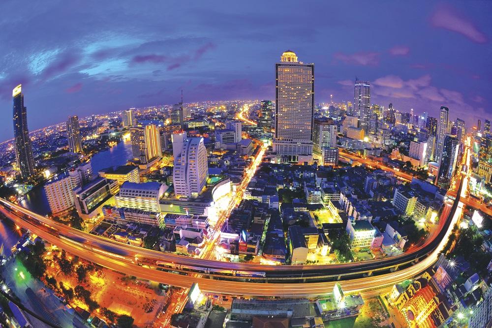 Aerial Photograph at Silom Road, Bangkok
