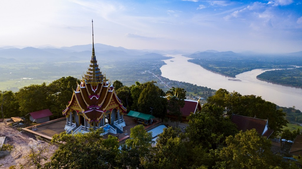 Aerial Photograph Pha Tak Suea Temple, Nong Khai