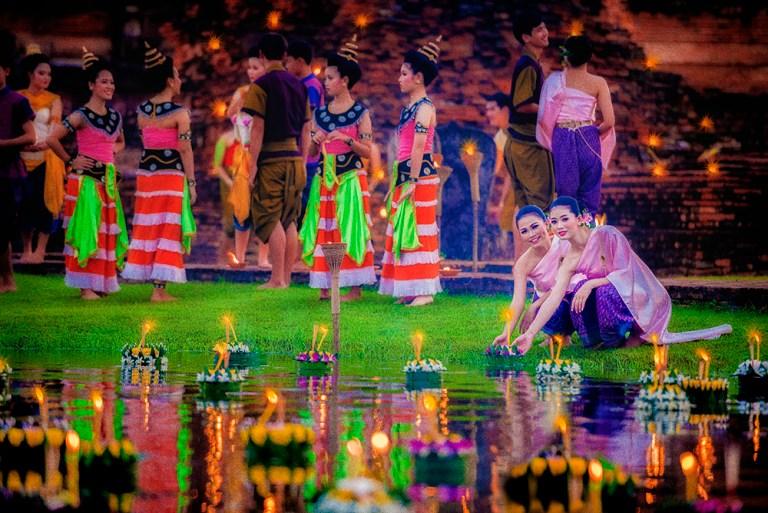 Loi Krathong y Festival de la Vela de Sukhothai