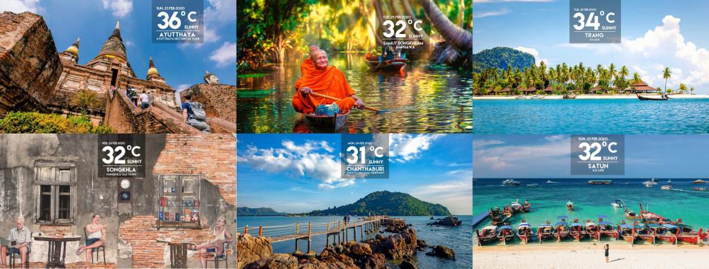 Turismo de Tailandia - Clima y temperatura en Tailandia